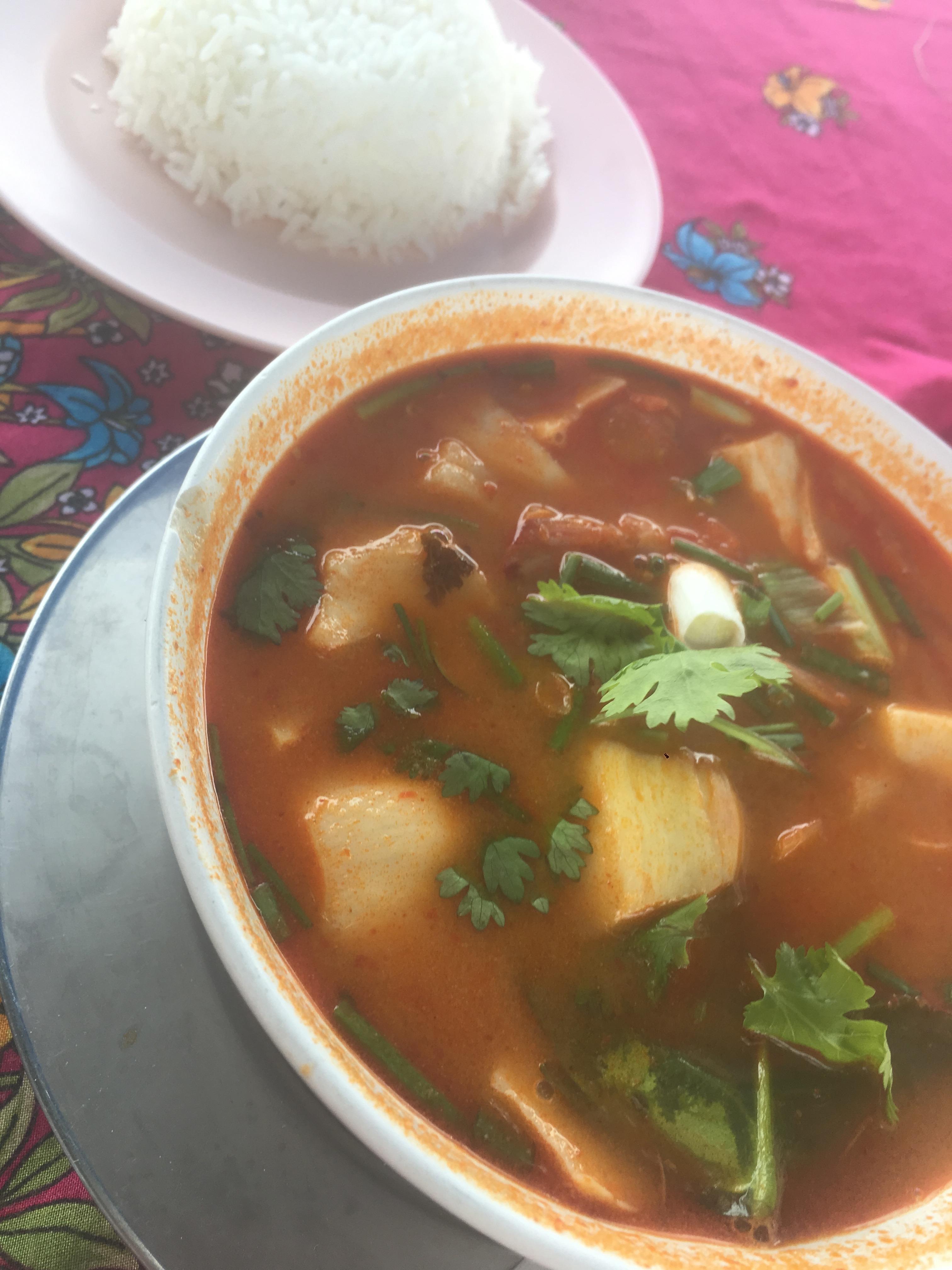La Zuppa tradizionale servita con il riso