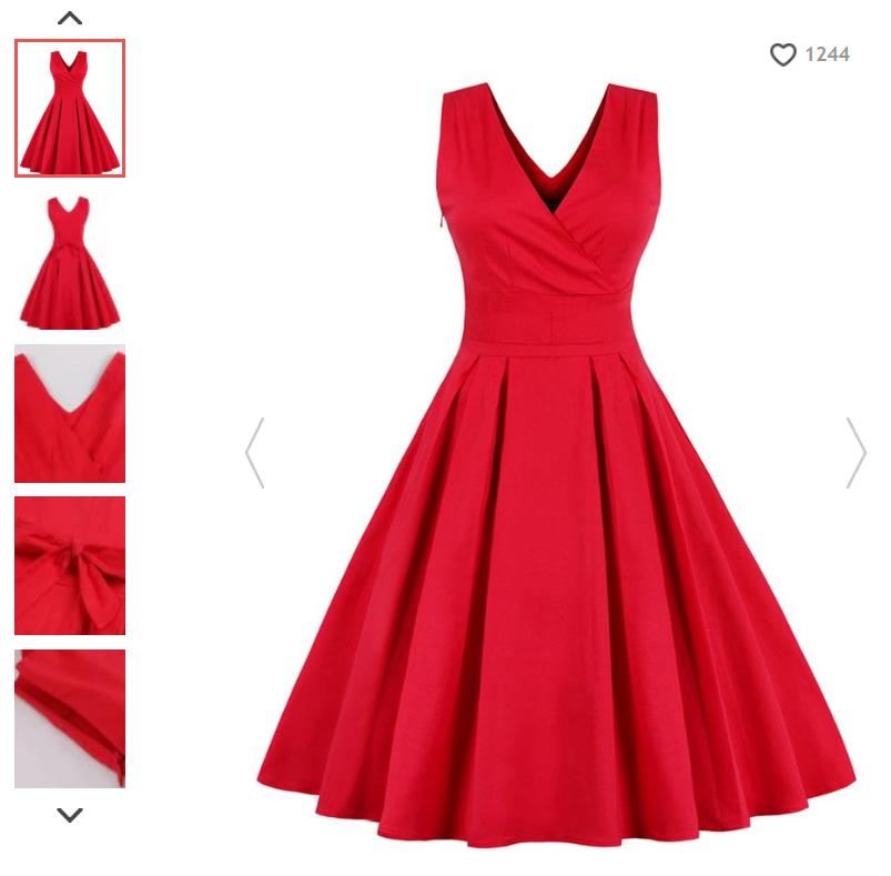abito rosso rosegal